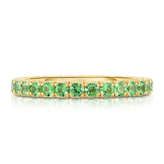 Light Green Tsavorite Micro Pave Eternity Band | Marisa Perry By Douglas Elliott