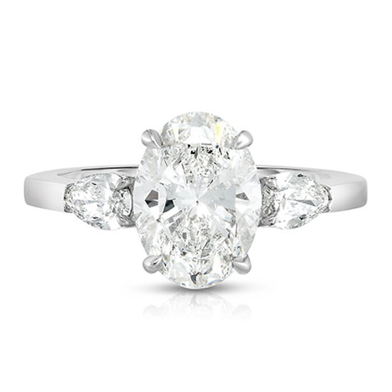 The Oval Cut Diamond Three Stone With Pears | Marisa Perry by Douglas Elliott