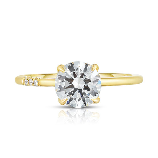 DE Solitaire with Micro Pave Cluster   Marisa Perry by Douglas Elliott