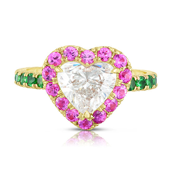 The 1.70 Carat Heart Shaped Diamond InLove | Marisa Perry by Douglas Elliott
