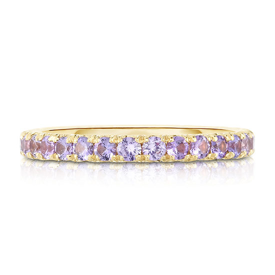 Three Point Purple Sapphire Micro Pave Eternity Band | Marisa Perry By Douglas Elliott