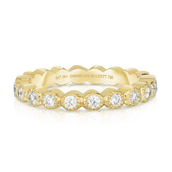 Milgrain Circle of Love 18k Yellow Gold | Diamond Eternity Band | By Douglas Elliott