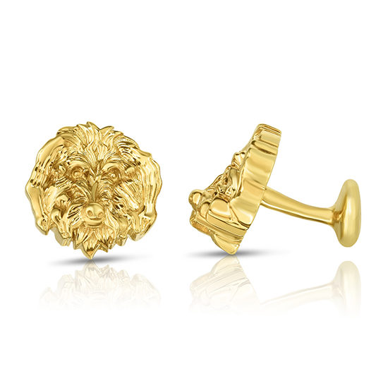 The Oliver Cufflinks | Sterling Silver with Gold Overlay | by Douglas Elliott