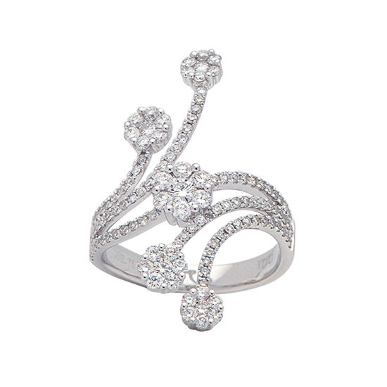 Diamond Flower Ring 18k White Gold | Marisa Perry
