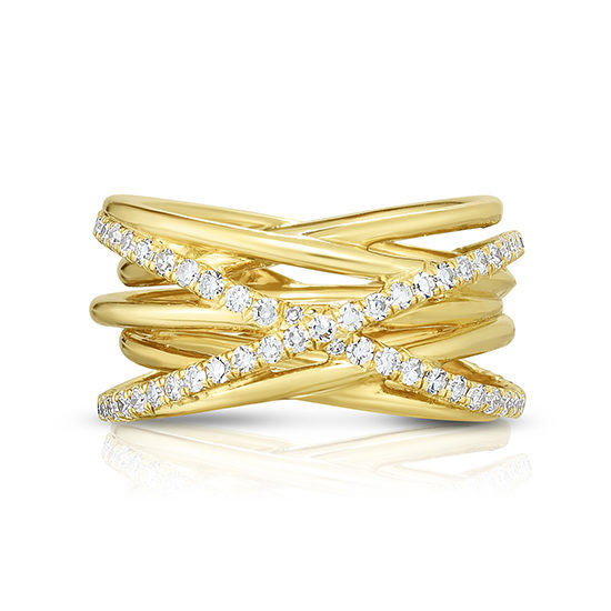 The Hurricane Ring | 18k Yellow Gold and Diamonds | Marisa Perry by Douglas Elliott