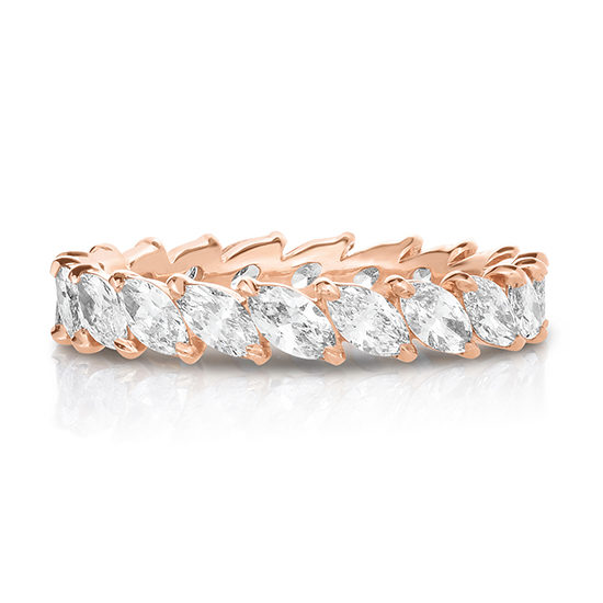 Marquise Cut Diamond Band 18k Rose Gold | Marisa Perry by Douglas Elliott