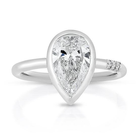 Pear Shape Diamond Engagement Ring Platinum | Marisa Perry by Douglas Elliott