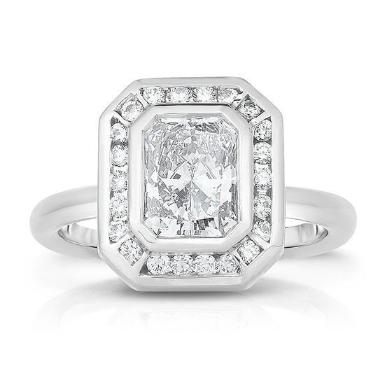 The Radiant Cut Diamond Deco Dream 2.0 Platinum | Marisa Perry by Douglas Elliott