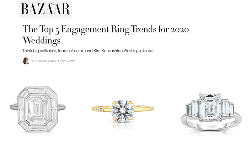 The Top 5 Engagement Ring Trends for 2020 Weddings