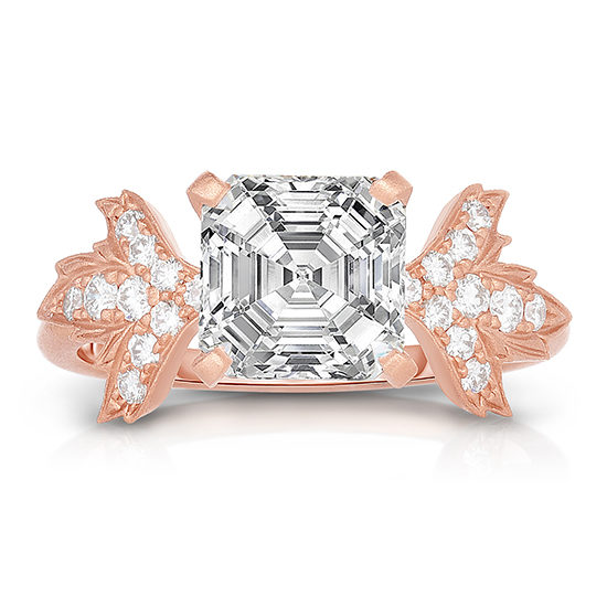 Asscher Cut Diamond Petal Collection Engagement Ring | Marisa Perry by Douglas Elliott