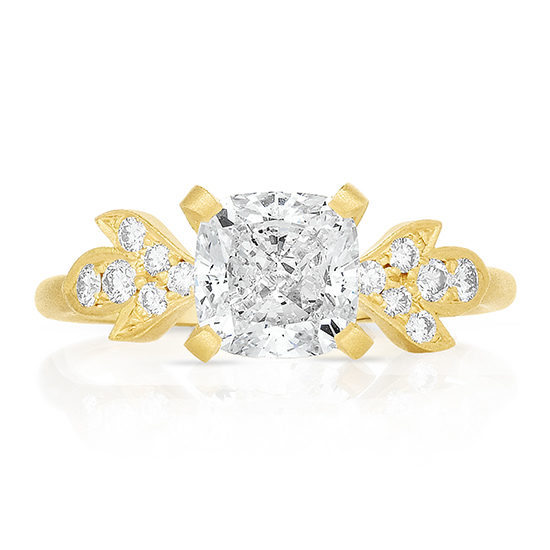 Cushion Cut Diamond Petal Collection Engagement Ring | Marisa Perry by Douglas Elliott