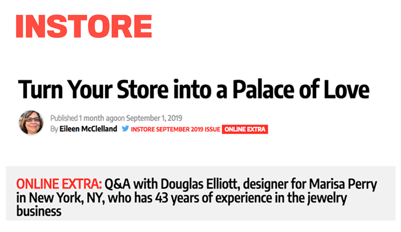 InStore Magazine Feature and Q&A with our Designer Douglas Elliott