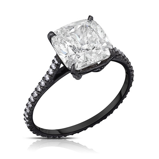 3.02 Carat Cushion Cut Black Orchid Setting | Marisa Perry by Douglas Elliott