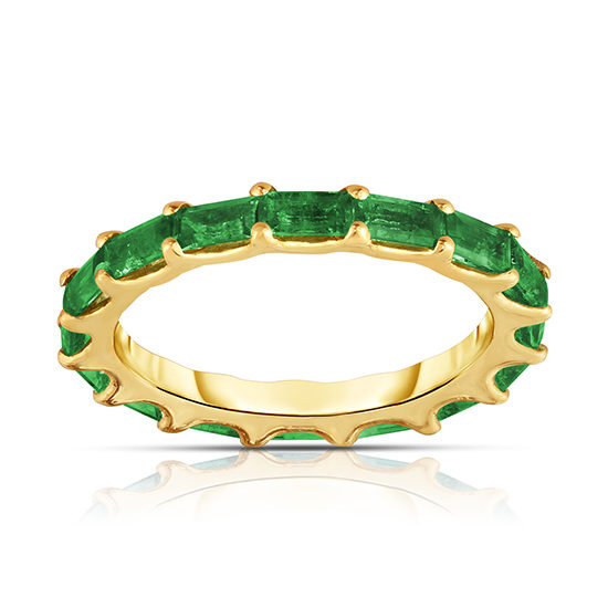1.48 Carat Baguette Emerald Band | Marisa Perry by Douglas Elliott