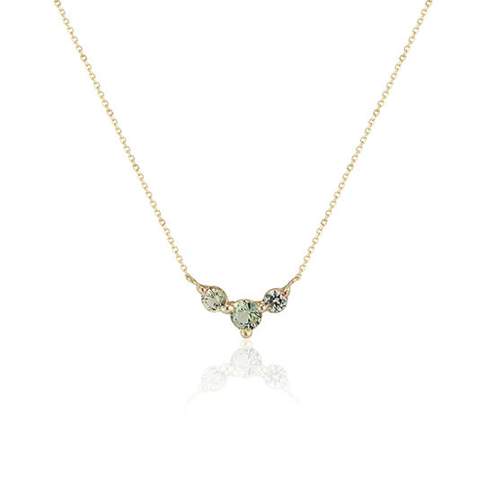 Teal Sapphire Trio Necklace | TER