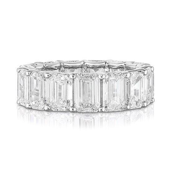 10.93 carat Emerald cut Diamond Eternity Band | Marisa Perry by Douglas Elliott