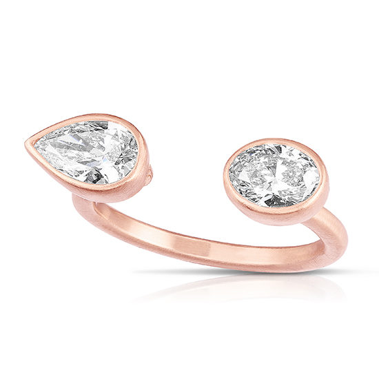 Pear Shape and Oval cut Diamond Split Ring | Marisa Perry by Douglas Elliott