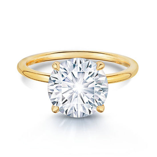 2.50 Carat Round Brilliant DE Solitaire 18k Yellow Gold | Marisa Perry by Douglas Elliott