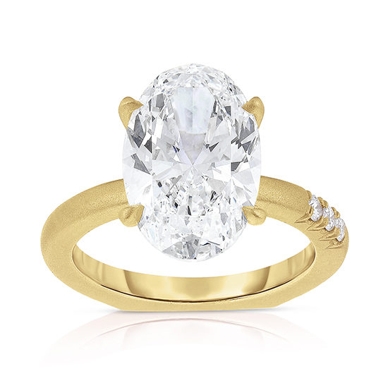 4.60 carat Oval Jayne Ring 18k Yellow Gold | Marisa Perry by Douglas Elliott