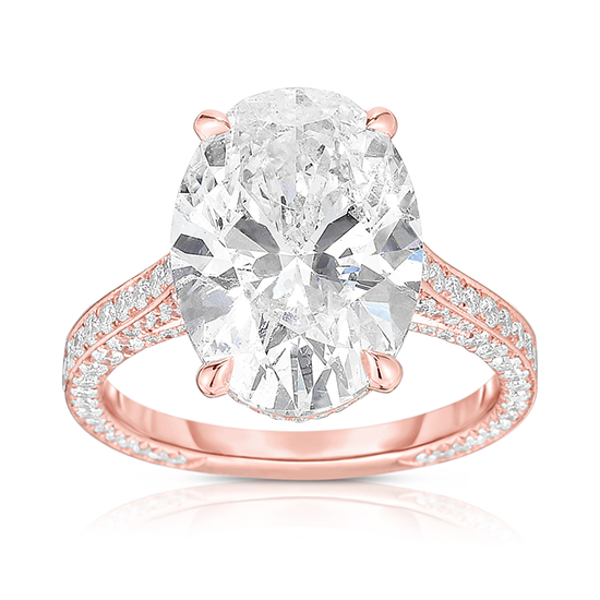 The 5.21 carat Oval Cut Diamond Royal Setting | Marisa Perry by Douglas Elliott