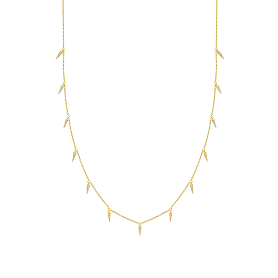 14K Yellow Gold Necklace with Diamonds