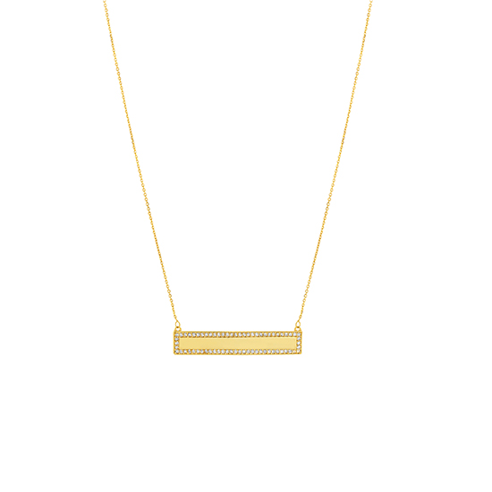 Adjustable Bar Necklace 14k yellow gold