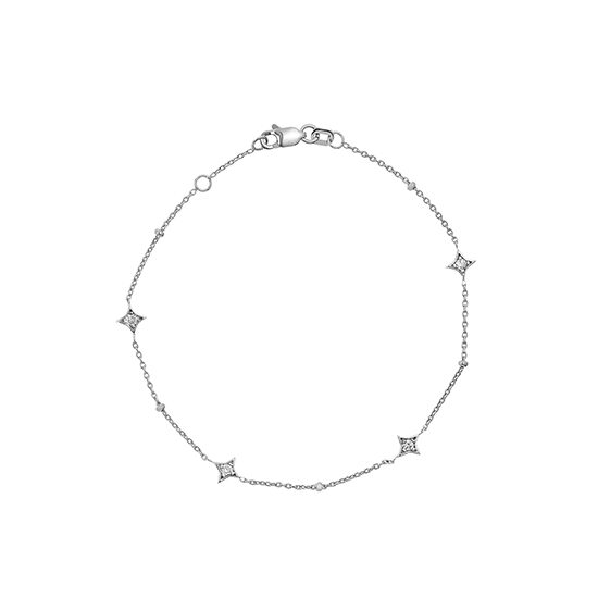 Star Struck Bracelet 14k White Gold