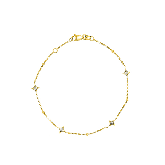 Star Struck Bracelet 14k Yellow Gold