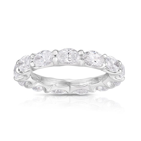 East to West Oval Cut Diamond Band Platinum | Marisa Perry by Douglas Elliott