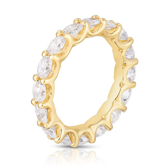 East to West Oval Cut Diamond Band 18k Yellow Gold | Marisa Perry by Douglas Elliott
