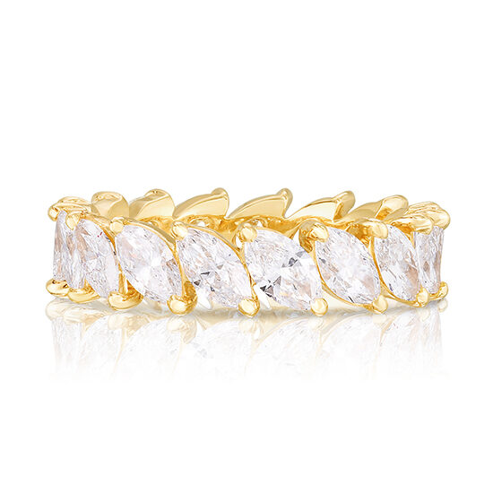 Marquise Cut Diamond Band Yellow Gold | Marisa Perry by Douglas Elliott
