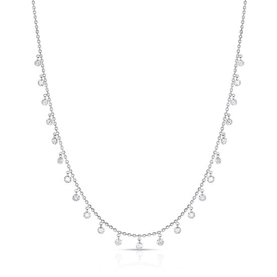1.97 carat Threaded Diamond Necklace