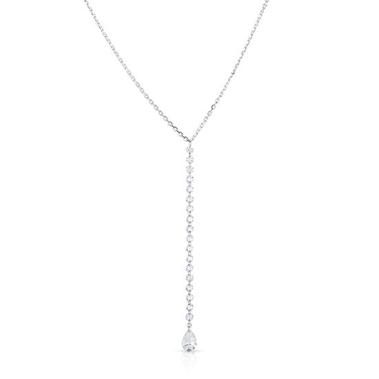 Threaded Diamond Drop Necklace
