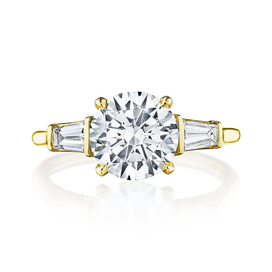 Three Stone Flush Fitting Diamond Engagement Ring | Marisa Perry by Douglas Elliott