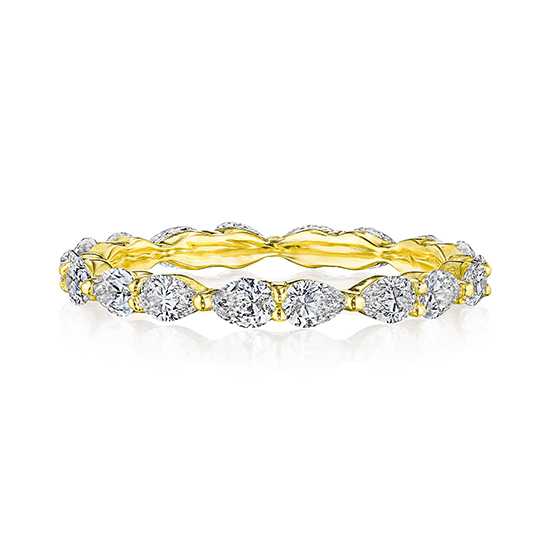 Pear Shape Diamond Eternity Band in 18k Yellow Gold | Marisa Perry by Douglas Elliott