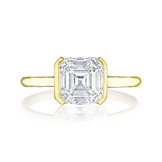 The Edge Solitaire Engagement Ring With an Asscher Cut Diamond   Marisa Perry by Douglas Elliott