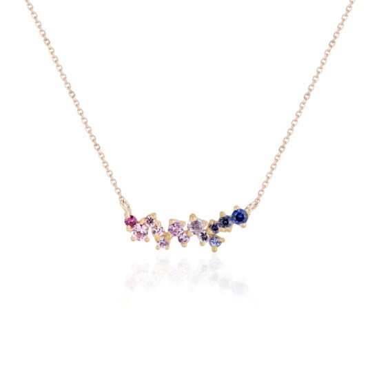 Rose Ombre Sapphire necklace