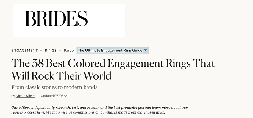 The 38 Best Colored Engagement Rings That Will Rock Their World