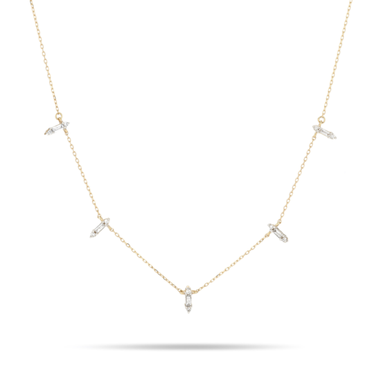 Dainty Baguette Stack Necklace