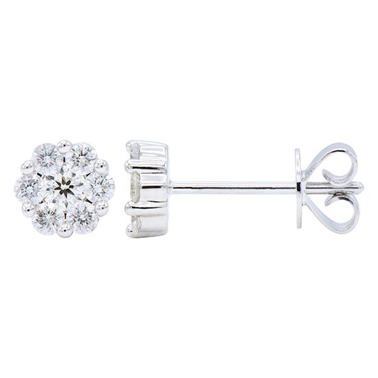 A Brilliant Stud, our Classic Cluster Earring